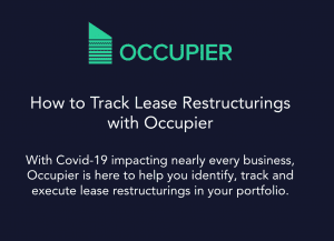 How to track lease restructurings with Occupier